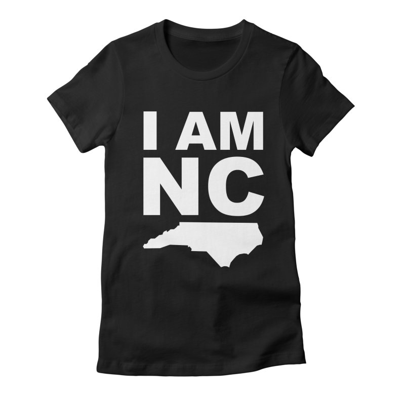 I AM NC in Women's Fitted T-Shirt Black by Tribe of the Infinite