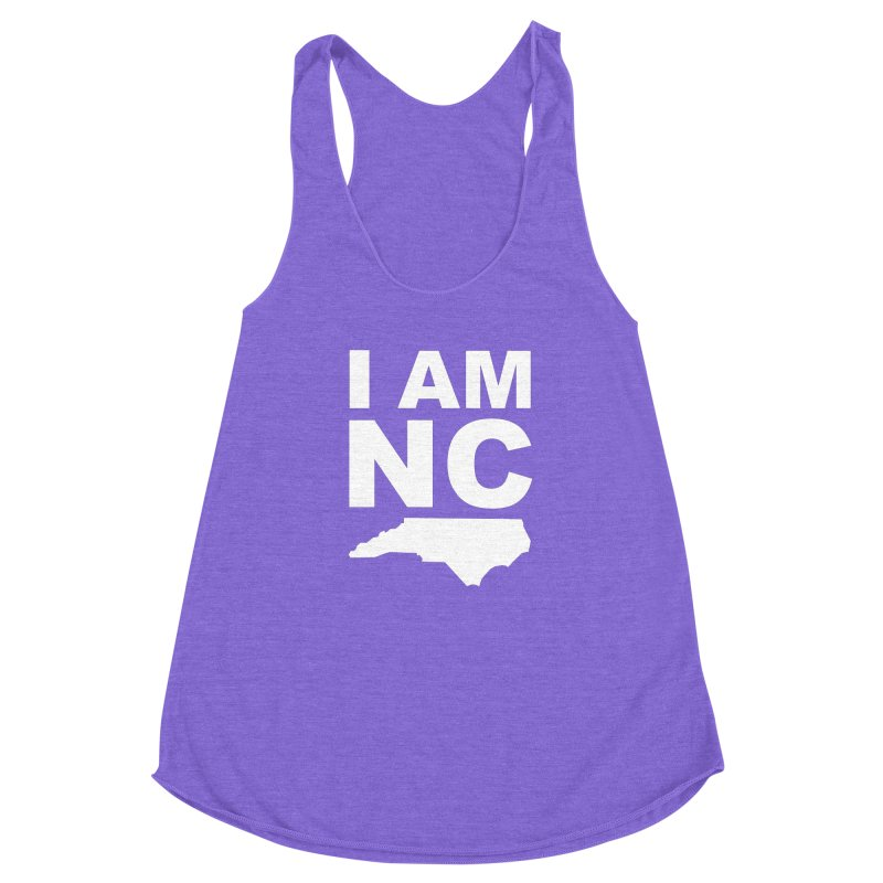 I AM NC Women's Racerback Triblend Tank by Tribe of the Infinite