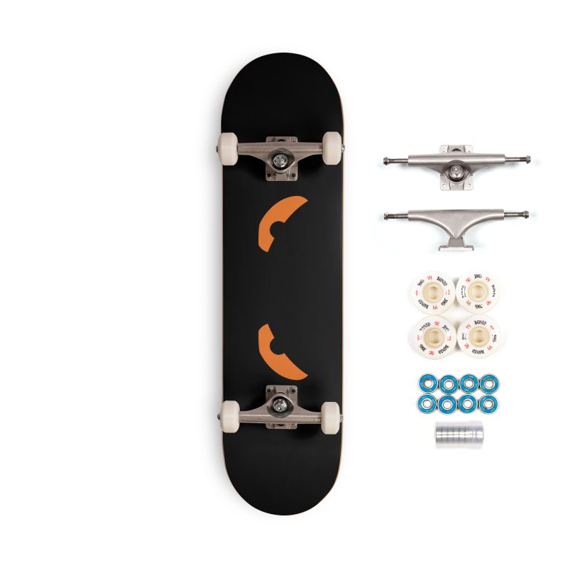 Fine Deck - Toa - Tribal Orange Eyes - Limited Edition Set Accessories Complete - Premium Skateboard by TribEyes by Oly