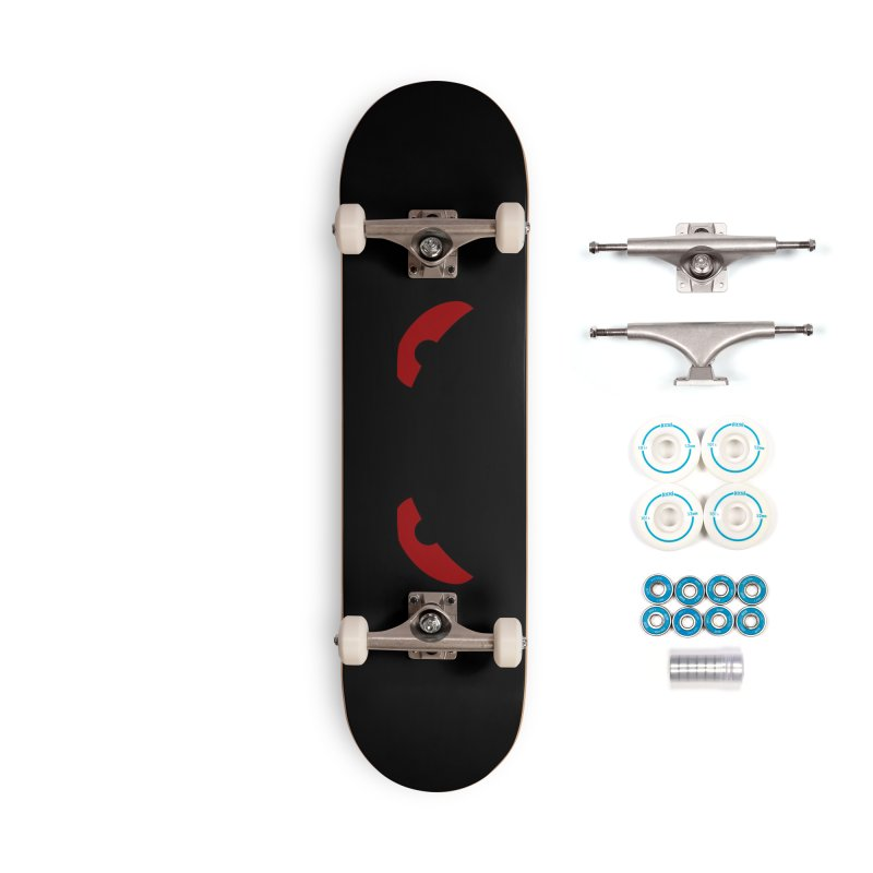 Fine Deck - Toa - Tribal Dark Red Eyes - Limited Edition Set Accessories Complete - Basic Skateboard by TribEyes by Oly