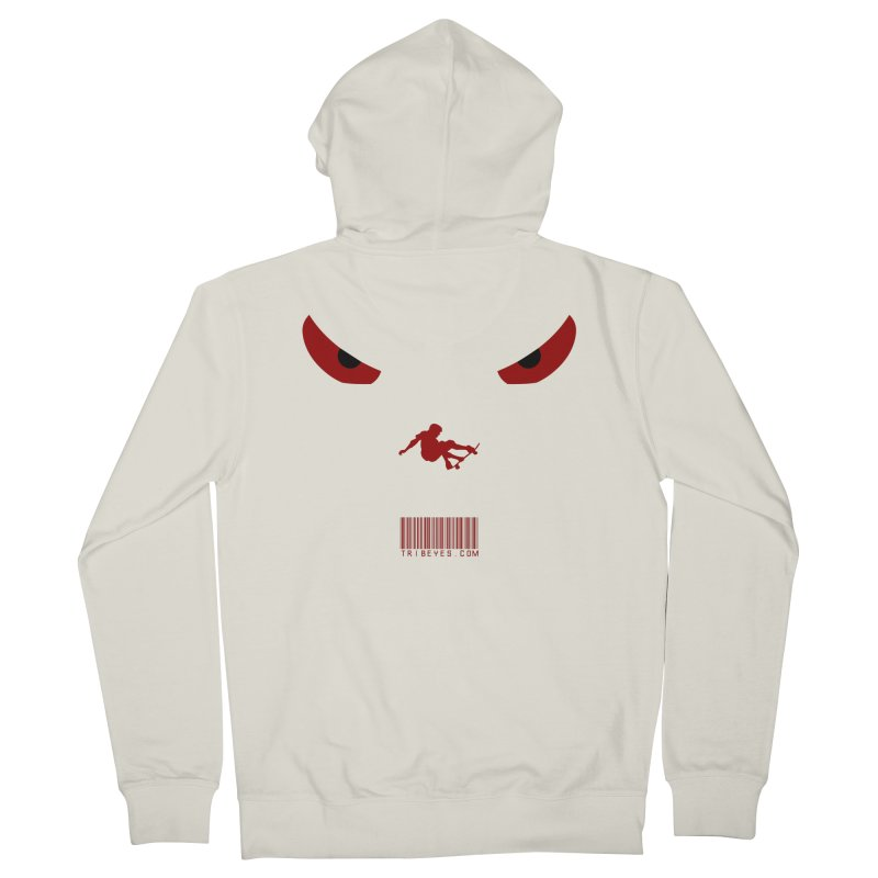 Toa - Tribal Dark Red Eyes - Limited Edition SK8 Men's French Terry Zip-Up Hoody by TribEyes by Oly