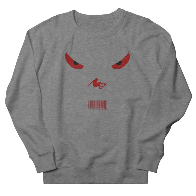 Toa - Tribal Dark Red Eyes - Limited Edition SK8 Men's French Terry Sweatshirt by TribEyes by Oly