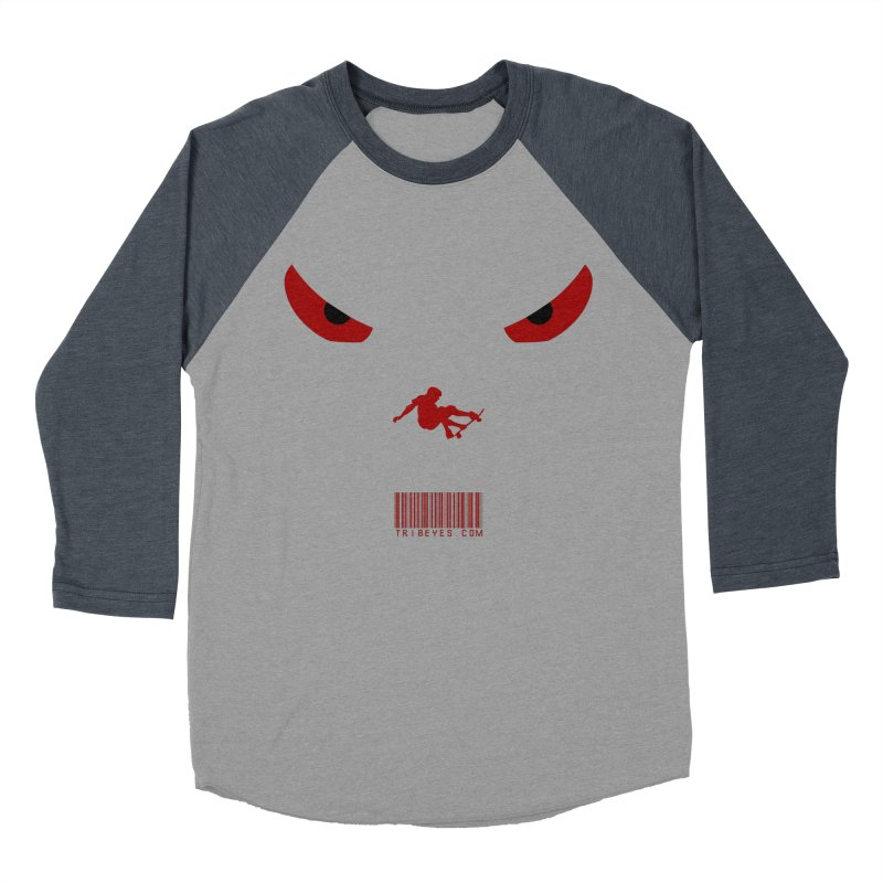 Toa - Tribal Dark Red Eyes - Limited Edition SK8 Women's Baseball Triblend Longsleeve T-Shirt by TribEyes by Oly