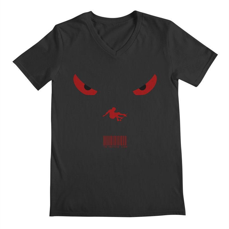 Toa - Tribal Dark Red Eyes - Limited Edition SK8 Men's Regular V-Neck by TribEyes by Oly