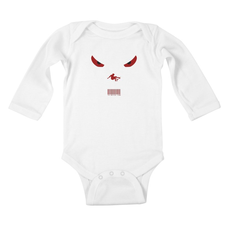 Toa - Tribal Dark Red Eyes - Limited Edition SK8 Kids Baby Longsleeve Bodysuit by TribEyes by Oly