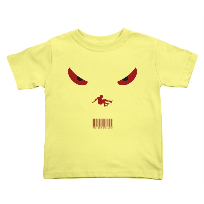 Toa - Tribal Dark Red Eyes - Limited Edition SK8 Kids Toddler T-Shirt by TribEyes by Oly