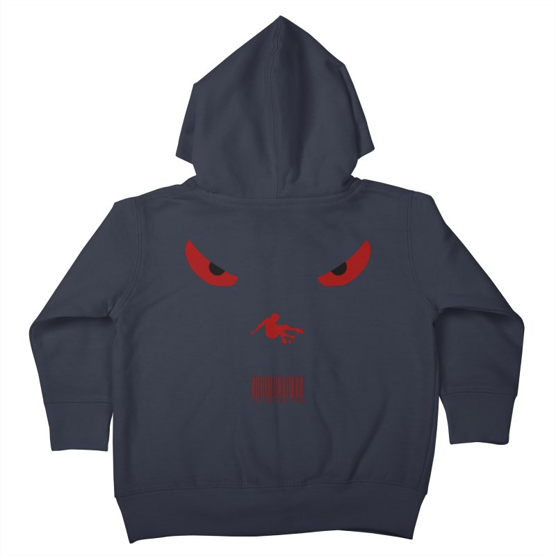 Toa - Tribal Dark Red Eyes - Limited Edition SK8 Kids Toddler Zip-Up Hoody by TribEyes by Oly