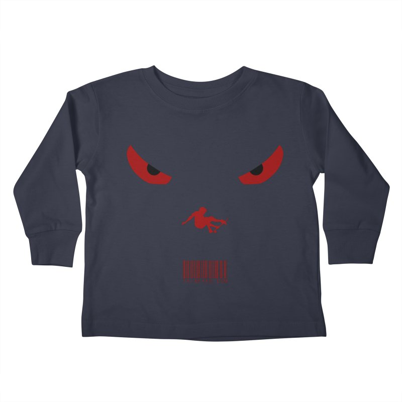 Toa - Tribal Dark Red Eyes - Limited Edition SK8 Kids Toddler Longsleeve T-Shirt by TribEyes by Oly