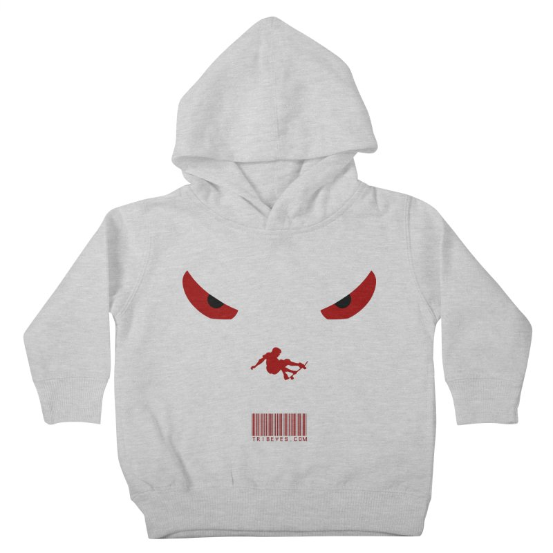 Toa - Tribal Dark Red Eyes - Limited Edition SK8 Kids Toddler Pullover Hoody by TribEyes by Oly