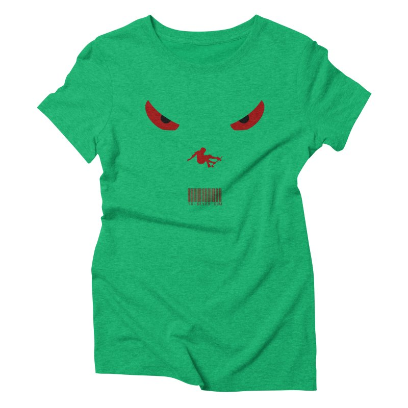 Toa - Tribal Dark Red Eyes - Limited Edition SK8 Women's Triblend T-Shirt by TribEyes by Oly