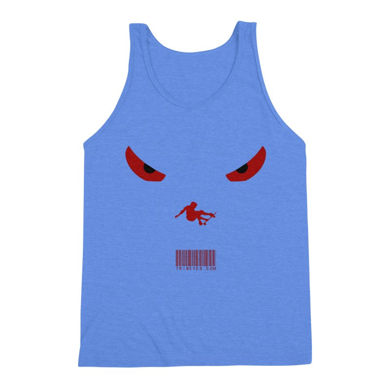 Toa - Tribal Dark Red Eyes - Limited Edition SK8 Men's Triblend Tank by TribEyes by Oly