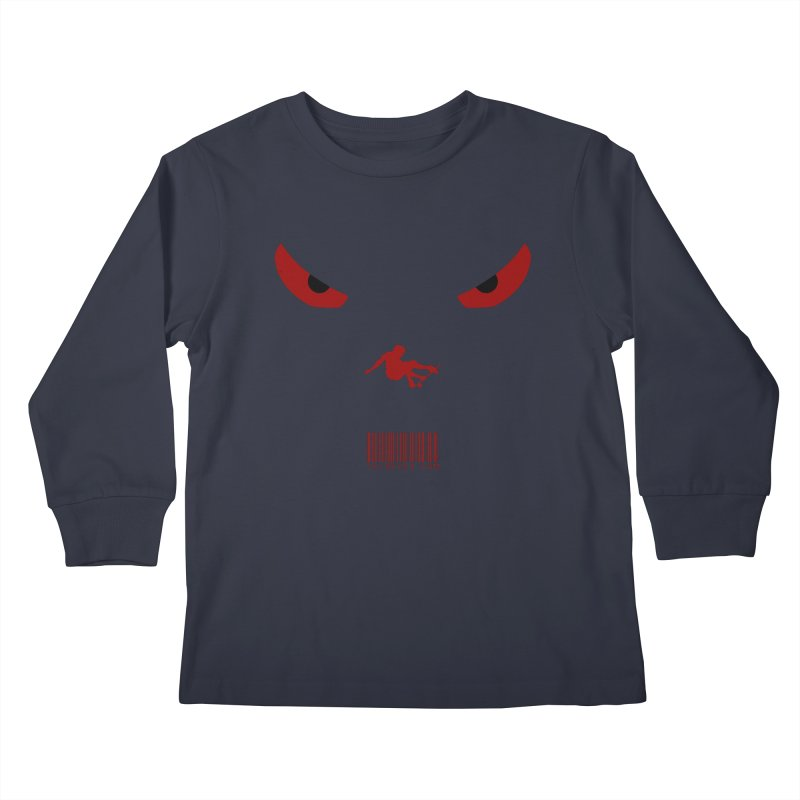 Toa - Tribal Dark Red Eyes - Limited Edition SK8 Kids Longsleeve T-Shirt by TribEyes by Oly