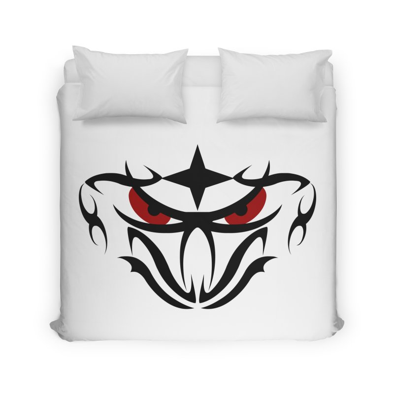 Toa ! Tribal Bold and Victorious - Red Eyes Home Duvet by TribEyes by Oly