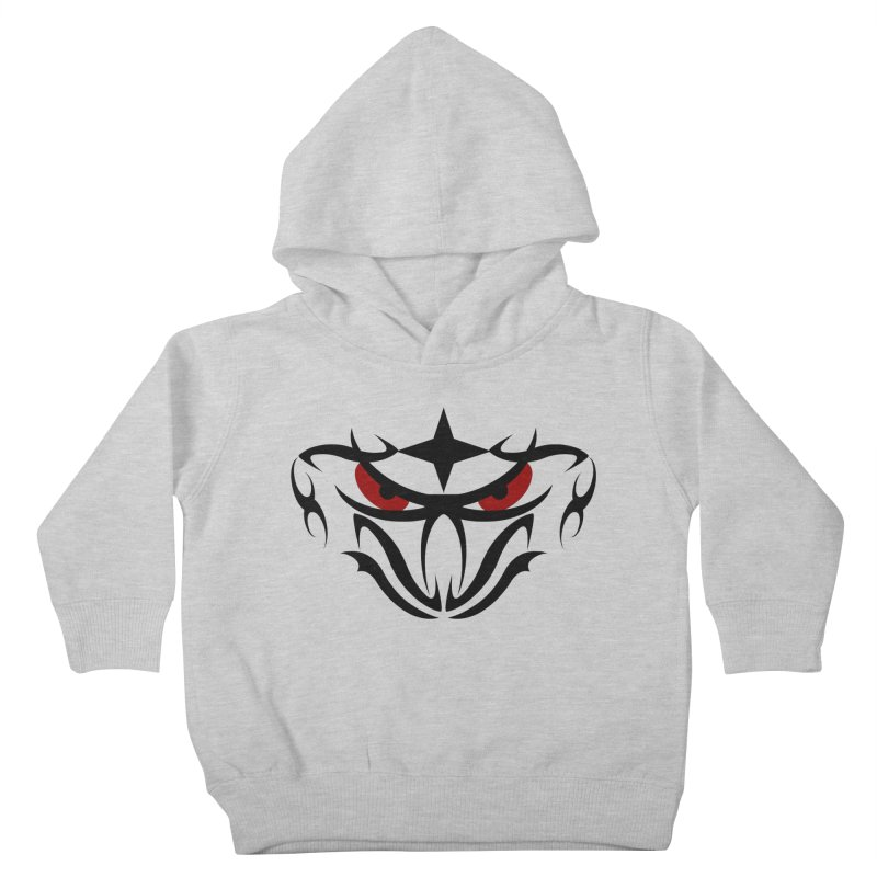 Toa ! Tribal Bold and Victorious - Red Eyes Kids Toddler Pullover Hoody by TribEyes by Oly