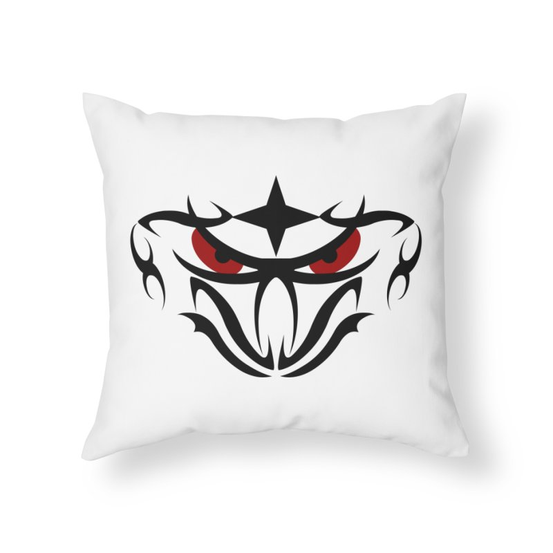 Toa ! Tribal Bold and Victorious - Red Eyes Home Throw Pillow by TribEyes by Oly