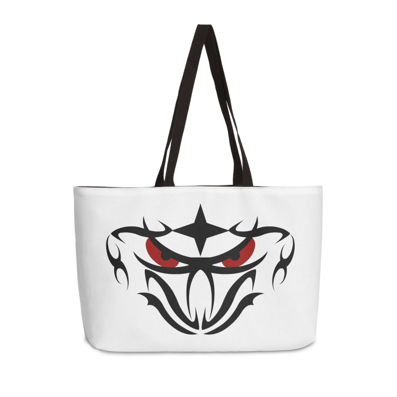 Toa ! Tribal Bold and Victorious - Red Eyes Accessories Weekender Bag Bag by TribEyes by Oly
