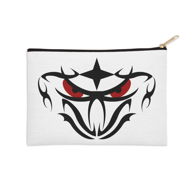 Toa ! Tribal Bold and Victorious - Red Eyes Accessories Zip Pouch by TribEyes by Oly