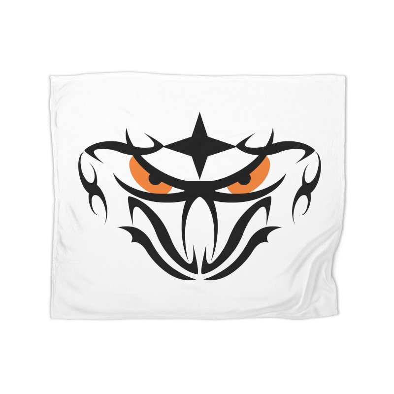 Toa ! Tribal Bold and Victorious - Orange Eyes Home Fleece Blanket Blanket by TribEyes by Oly