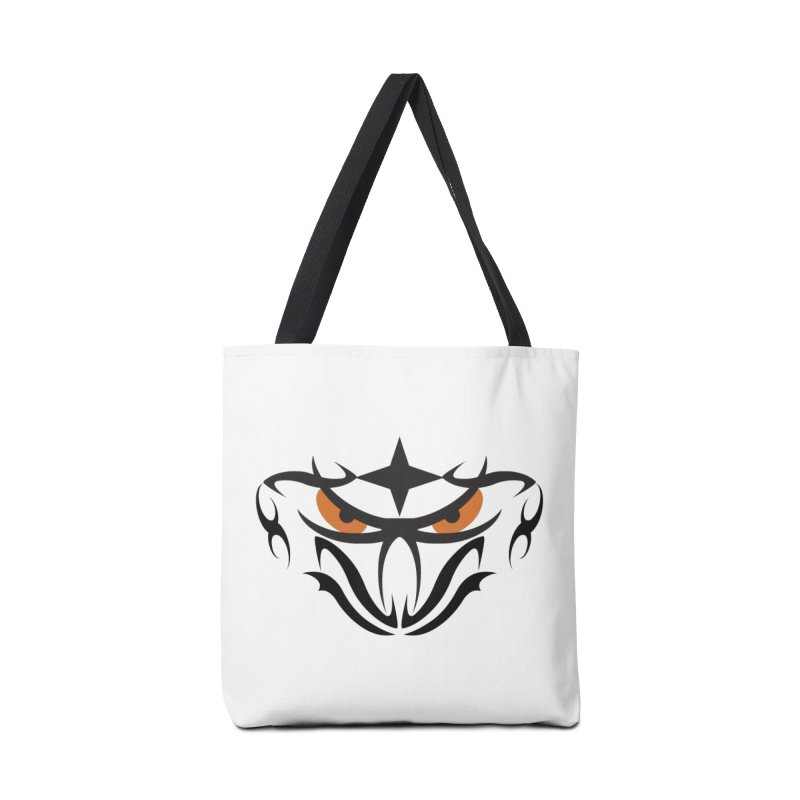Toa ! Tribal Bold and Victorious - Orange Eyes Accessories Tote Bag Bag by TribEyes by Oly
