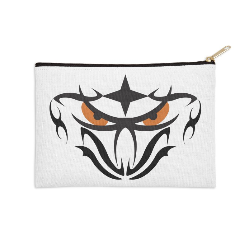Toa ! Tribal Bold and Victorious - Orange Eyes Accessories Zip Pouch by TribEyes by Oly