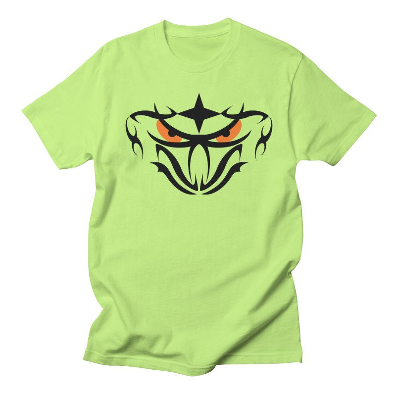 Toa ! Tribal Bold and Victorious - Orange Eyes Men's T-Shirt by TribEyes by Oly