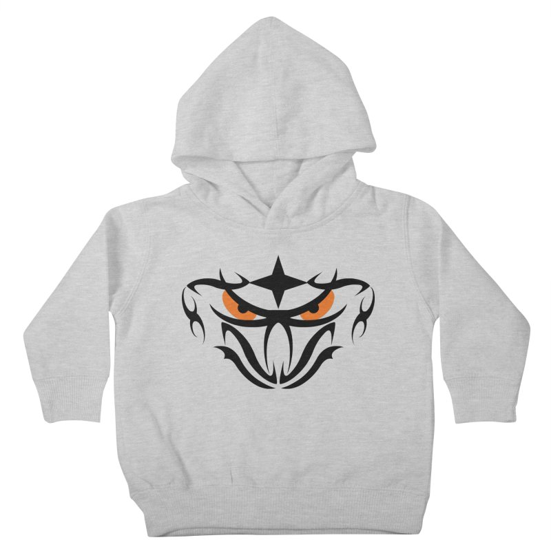Toa ! Tribal Bold and Victorious - Orange Eyes Kids Toddler Pullover Hoody by TribEyes by Oly