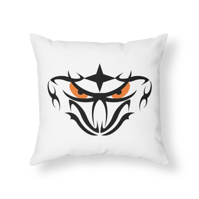 Toa ! Tribal Bold and Victorious - Orange Eyes Home Throw Pillow by TribEyes by Oly