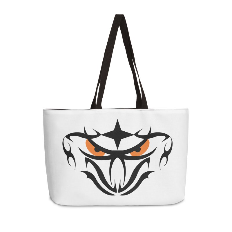 Toa ! Tribal Bold and Victorious - Orange Eyes Accessories Weekender Bag Bag by TribEyes by Oly
