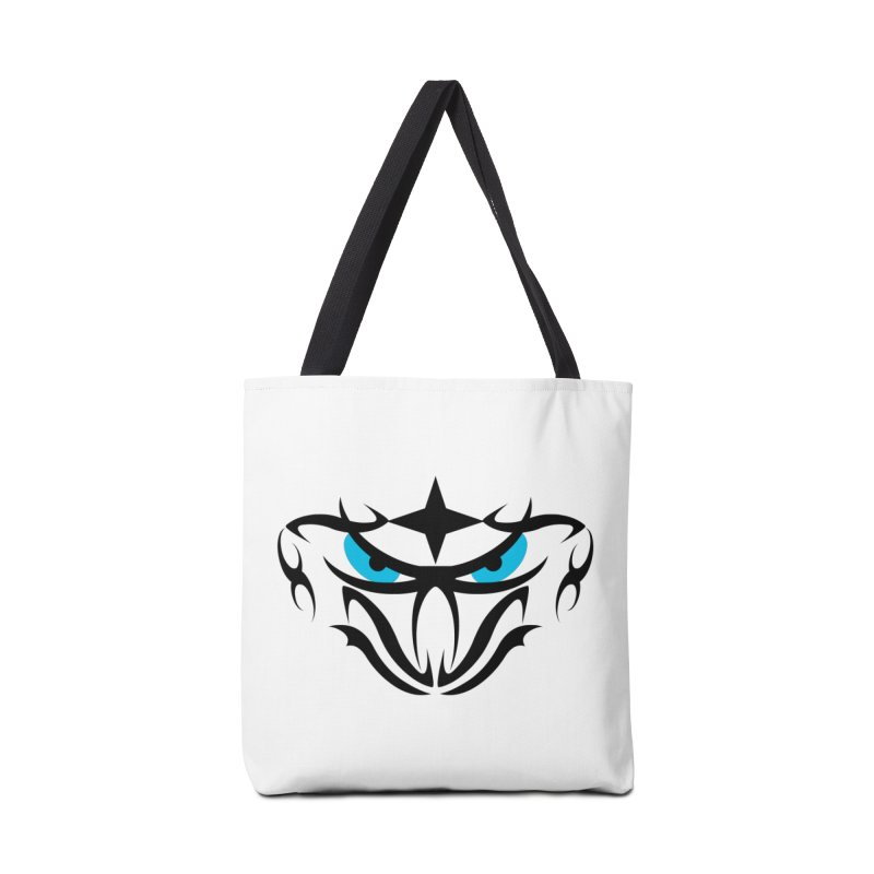 Toa ! Tribal Bold and Victorious - Blue Eyes Accessories Tote Bag Bag by TribEyes by Oly