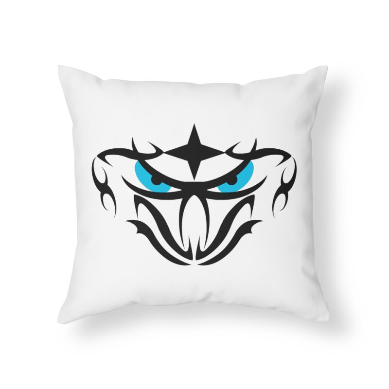 Toa ! Tribal Bold and Victorious - Blue Eyes Home Throw Pillow by TribEyes by Oly