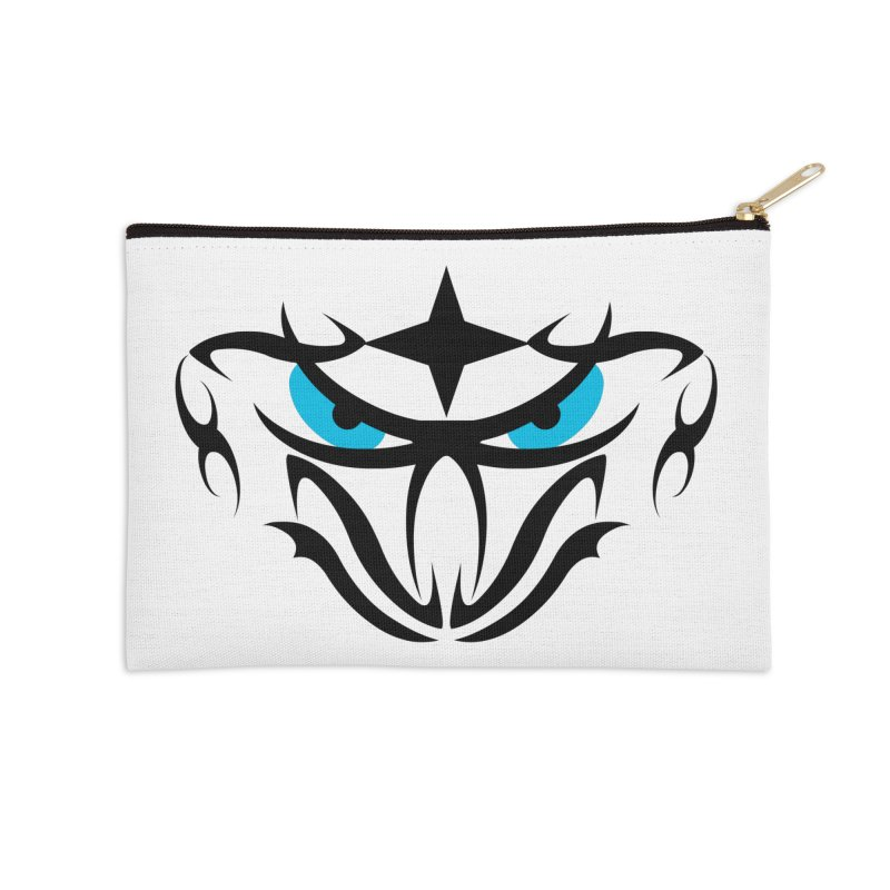 Toa ! Tribal Bold and Victorious - Blue Eyes Accessories Zip Pouch by TribEyes by Oly