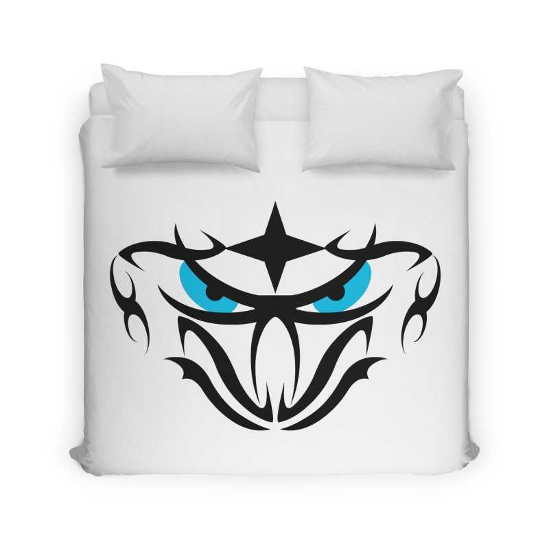 Toa ! Tribal Bold and Victorious - Blue Eyes Home Duvet by TribEyes by Oly