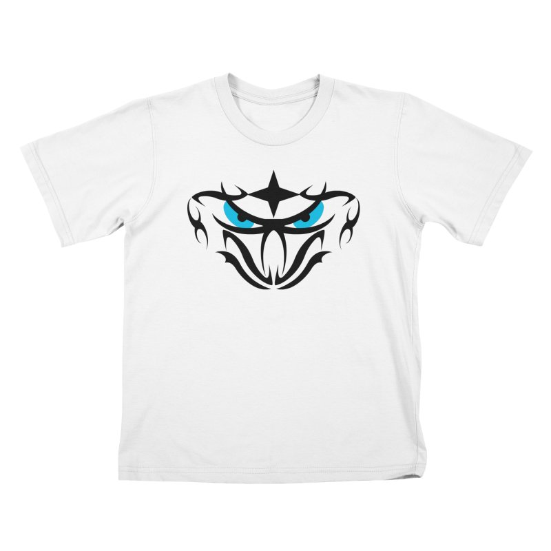 Toa ! Tribal Bold and Victorious - Blue Eyes Kids T-Shirt by TribEyes by Oly