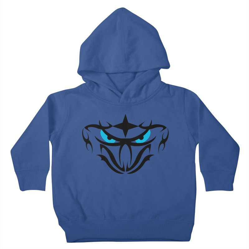 Toa ! Tribal Bold and Victorious - Blue Eyes Kids Toddler Pullover Hoody by TribEyes by Oly