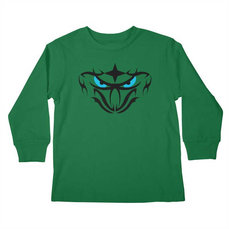 Toa ! Tribal Bold and Victorious - Blue Eyes Kids Longsleeve T-Shirt by TribEyes by Oly