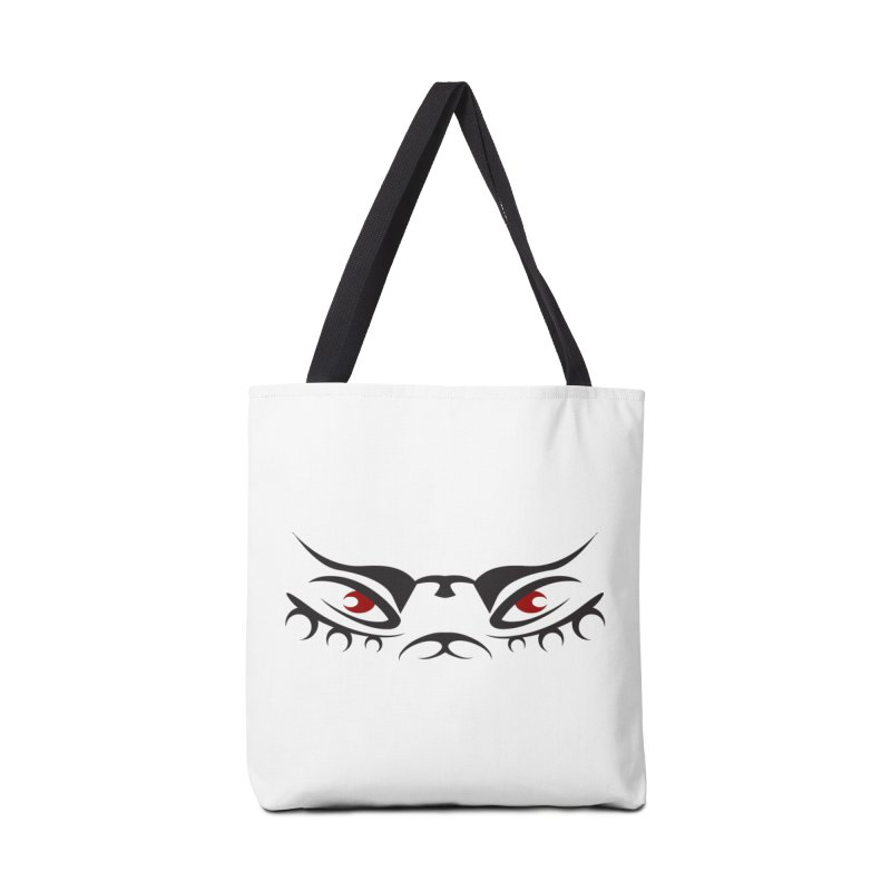 Taika ! The Tribal Tigress - Red Eyes Accessories Tote Bag Bag by TribEyes by Oly