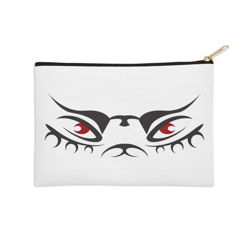 Taika ! The Tribal Tigress - Red Eyes Accessories Zip Pouch by TribEyes by Oly