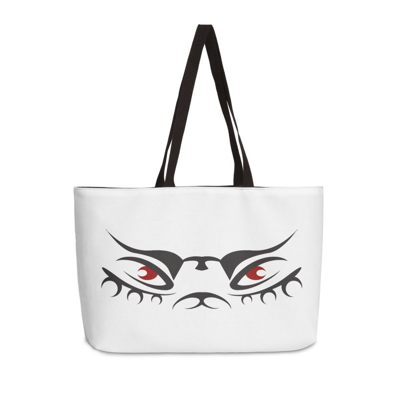 Taika ! The Tribal Tigress - Red Eyes Accessories Weekender Bag Bag by TribEyes by Oly