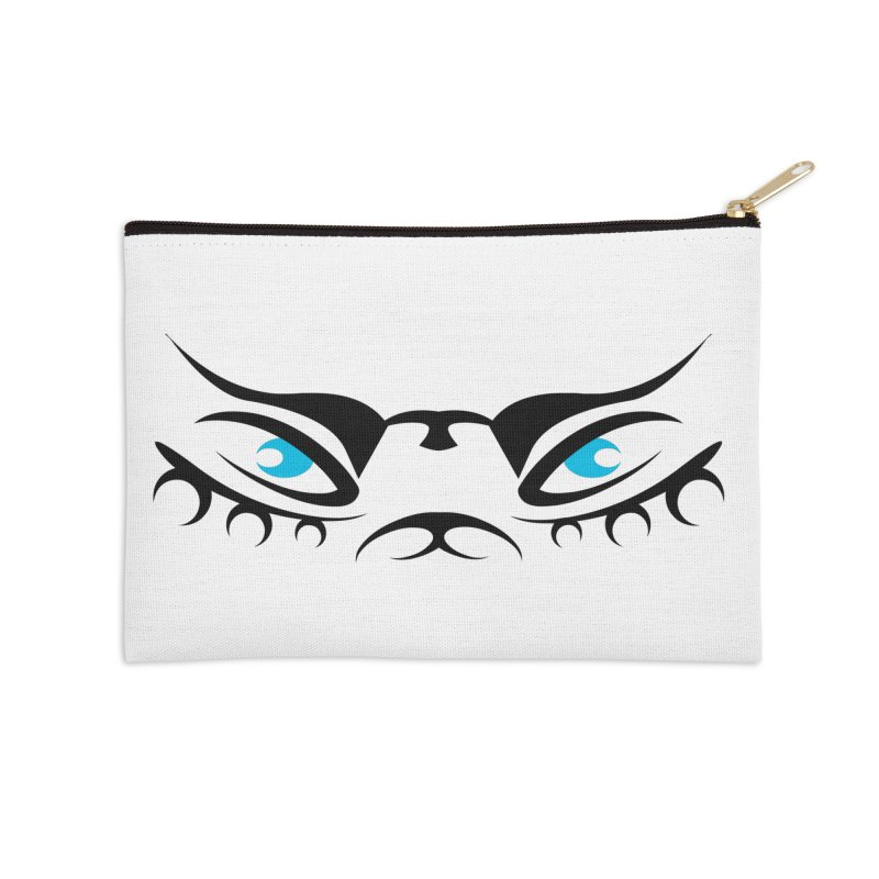 Taika ! The Tribal Tigress - Blue Eyes Accessories Zip Pouch by TribEyes by Oly