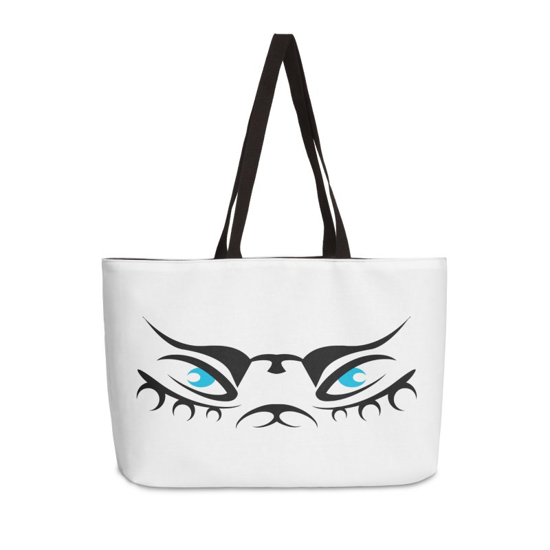 Taika ! The Tribal Tigress - Blue Eyes Accessories Weekender Bag Bag by TribEyes by Oly