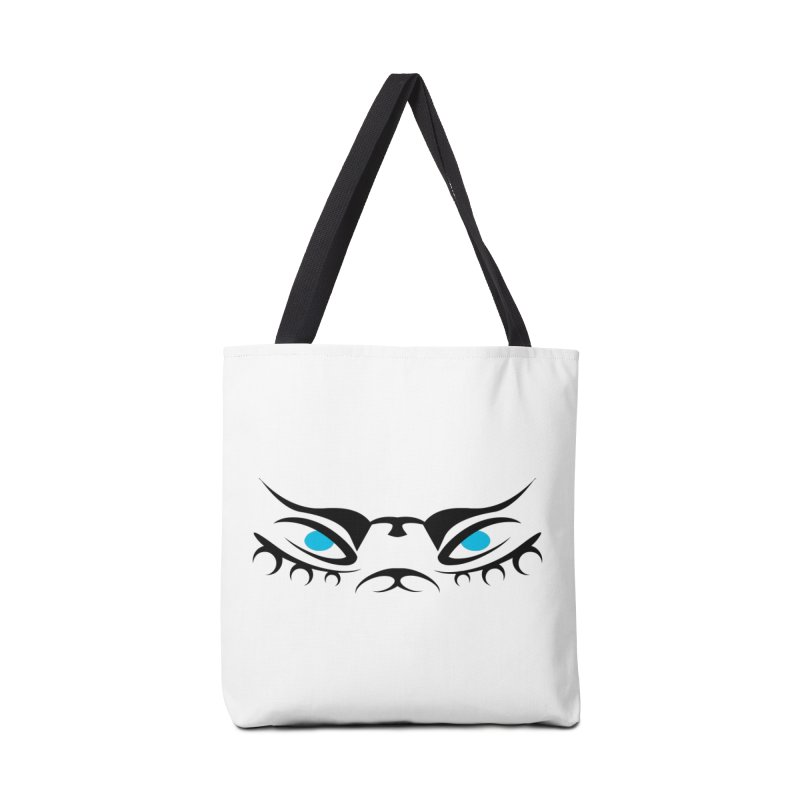 Taika ! The Tribal Tigress - Blue Eyes Accessories Tote Bag Bag by TribEyes by Oly