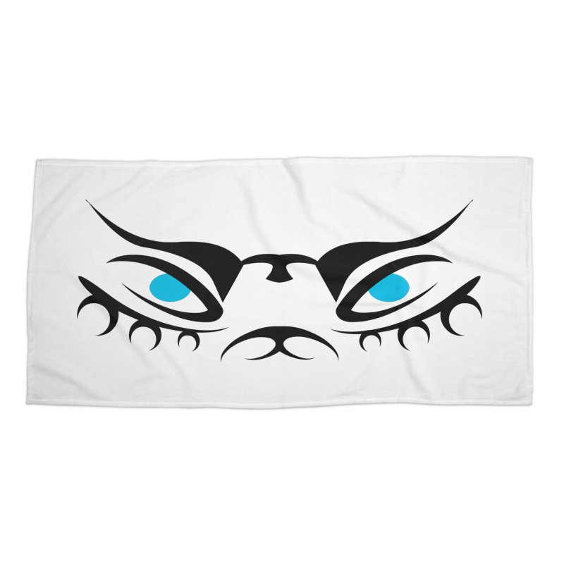 Taika ! The Tribal Tigress - Blue Eyes Accessories Beach Towel by TribEyes by Oly