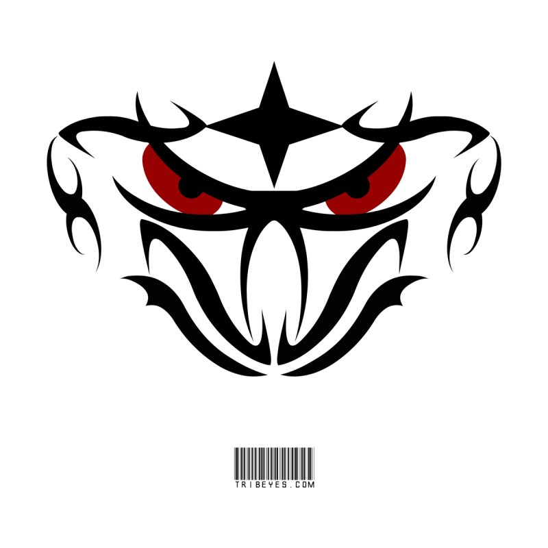 Toa ! For the Bold and Victorious - Red Eyes - Tribal Design Accessories Sticker by TribEyes by Oly