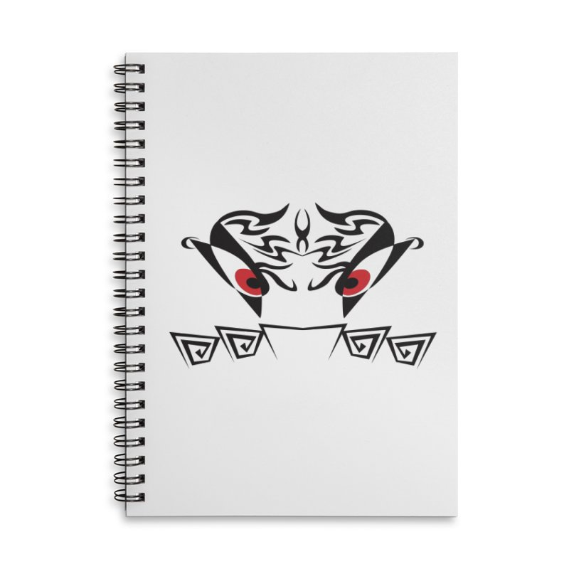 Tohunga ! The Tribal Guru - Red Eyes Accessories Lined Spiral Notebook by TribEyes by Oly