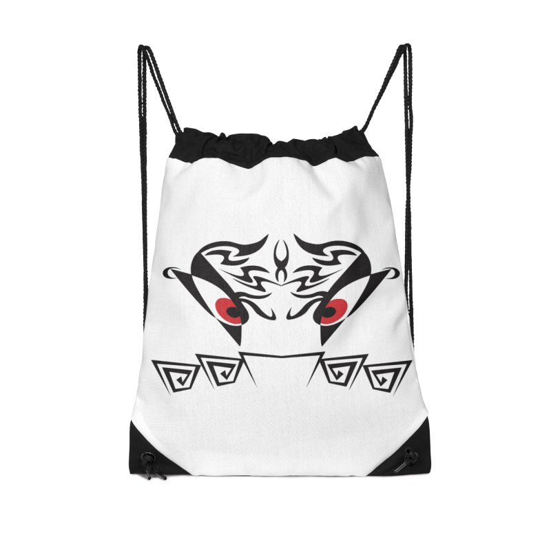 Tohunga ! The Tribal Guru - Red Eyes Accessories Drawstring Bag Bag by TribEyes by Oly