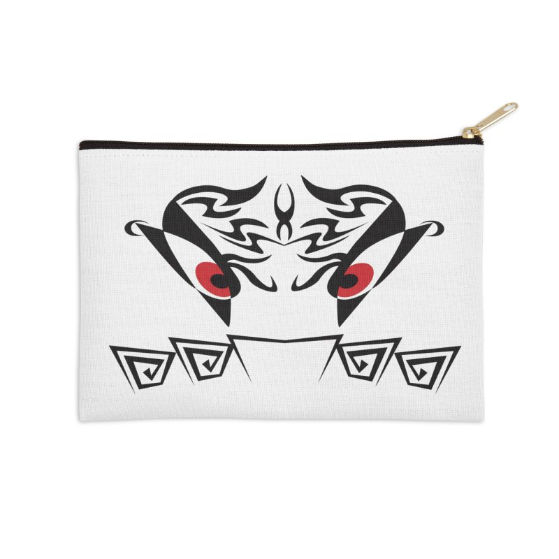 Tohunga ! The Tribal Guru - Red Eyes Accessories Zip Pouch by TribEyes by Oly