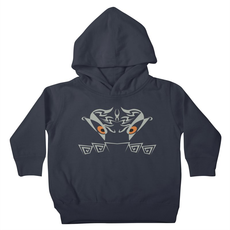 Tohunga ! The Guru - Orange Eyes - Tribal Design Kids Toddler Pullover Hoody by TribEyes by Oly