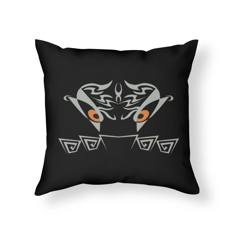 Tohunga ! The Guru - Orange Eyes - Tribal Design Home Throw Pillow by TribEyes by Oly