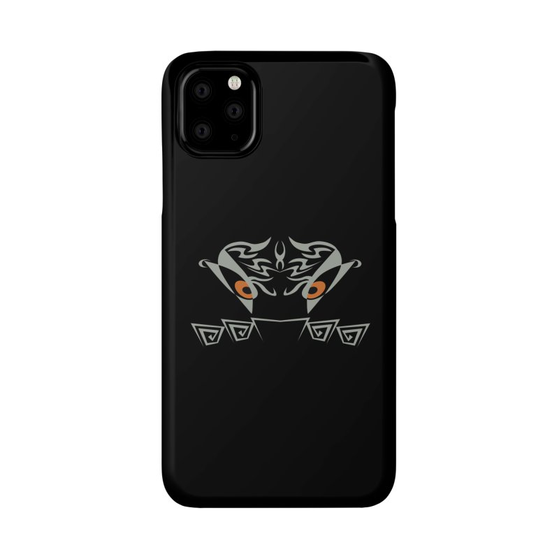 Tohunga ! The Guru - Orange Eyes - Tribal Design Accessories Phone Case by TribEyes by Oly