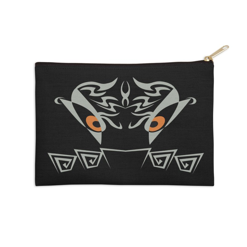 Tohunga ! The Guru - Orange Eyes - Tribal Design Accessories Zip Pouch by TribEyes by Oly